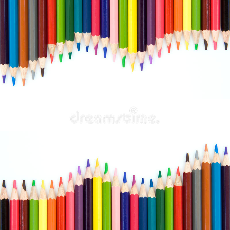 Background with color pencils royalty free stock photo