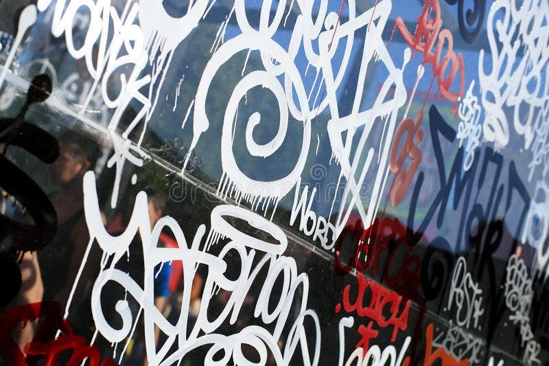Background color of street graffiti stock images