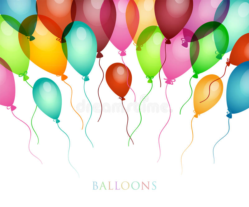 Download Background With Colored Balloons Stock Vector - Image: 27616425