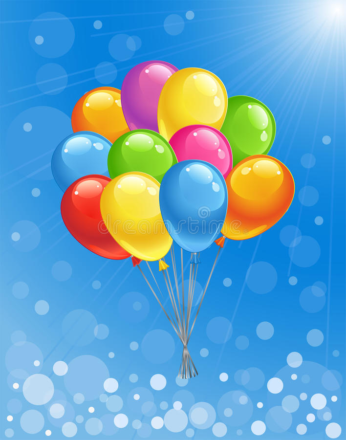 Background with colored balloons. royalty free stock images