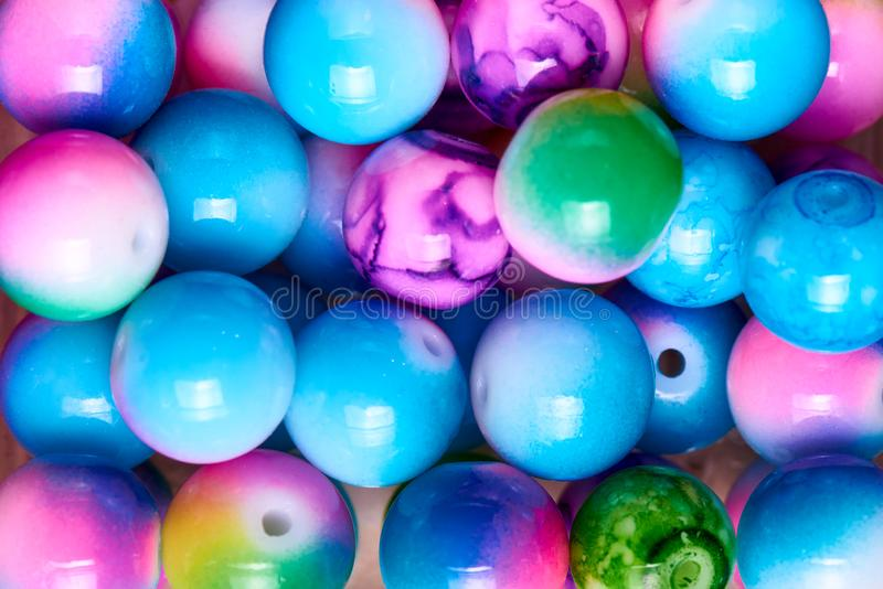 Background of colored beads close-up royalty free stock photos