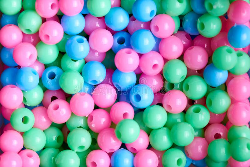 Background of colored beads close-up stock photography