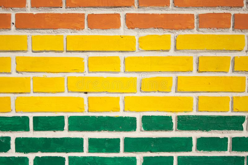 Background Of Colored Brick Walls Stock Photo - Image of colorful ...