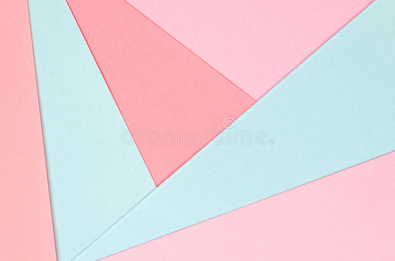 Background of colored paper geometric shapes. Vivid template royalty free stock photo