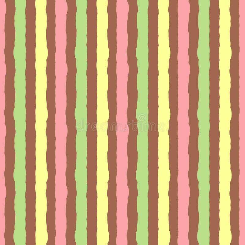 Background with colored vertical stripes. Seamless pattern painted rough brush. royalty free illustration