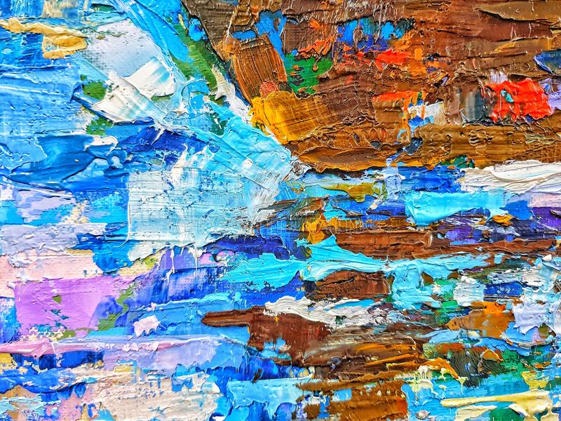 Background of colored watercolor paints on art canvas stock photography