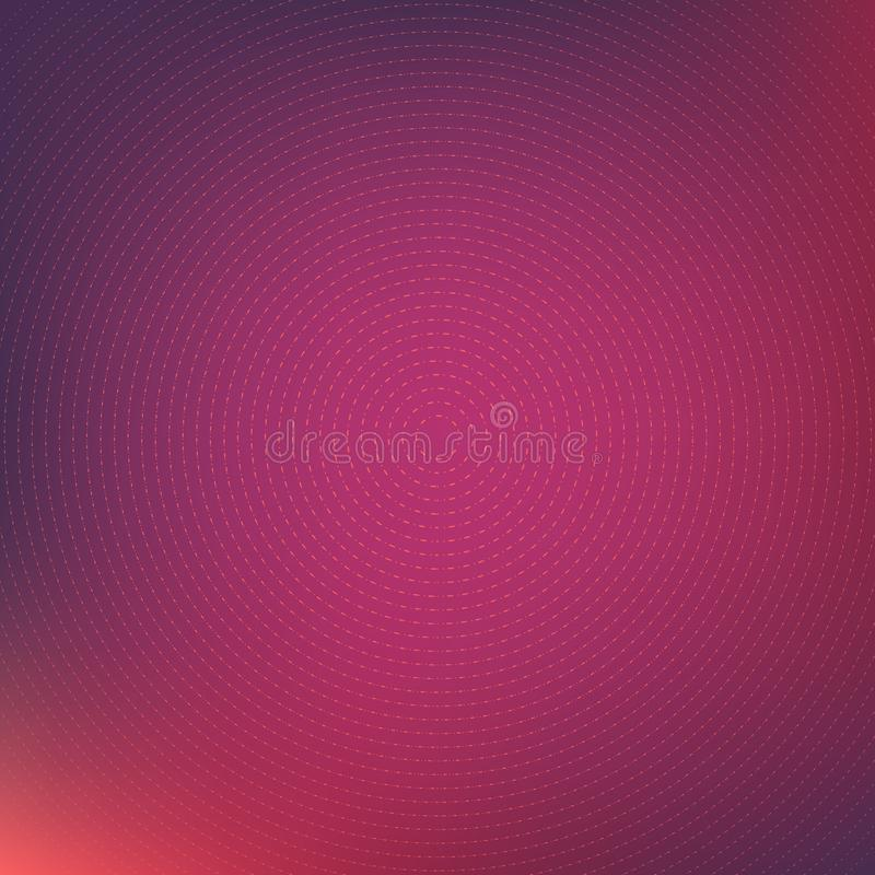 Colorful abstract background with thin line concentric circles royalty free illustration