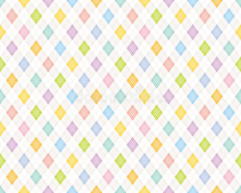 Colorful checked pattern royalty free illustration