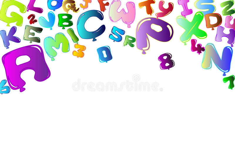 Download Background With Colorful Balloons In The Shape Of Stock Illustration - Illustration: 22927543