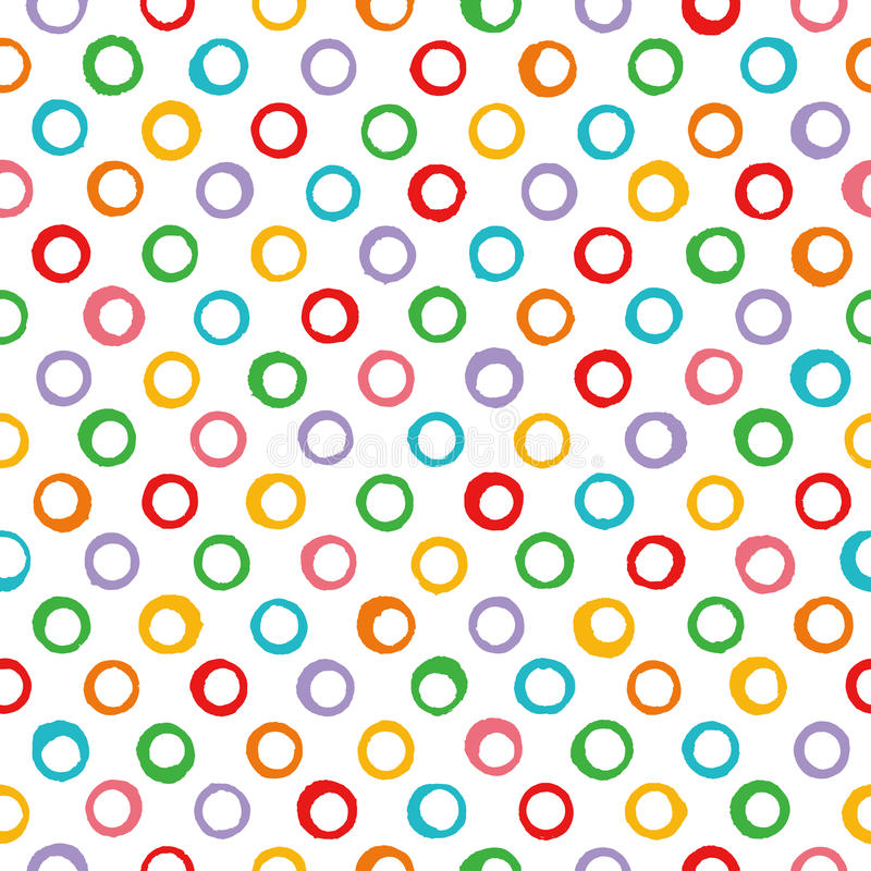 Background with colorful dots. stock illustration