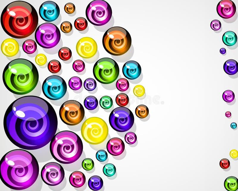 Background of colorful elements. stock illustration