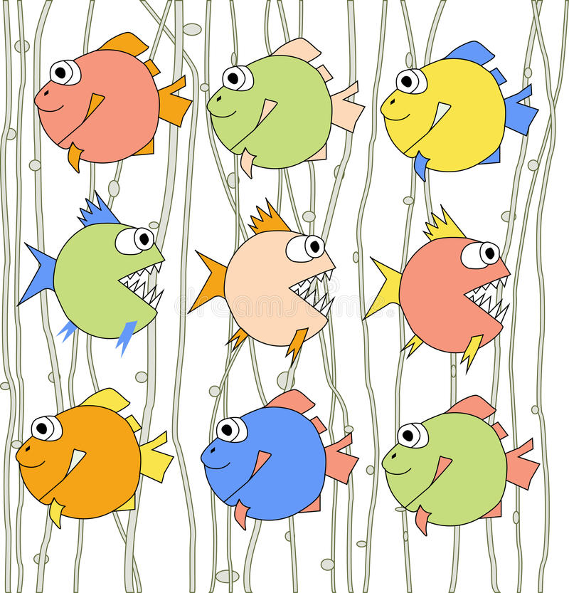 Download Background With Colorful Fishes Stock Illustration - Image: 24461285