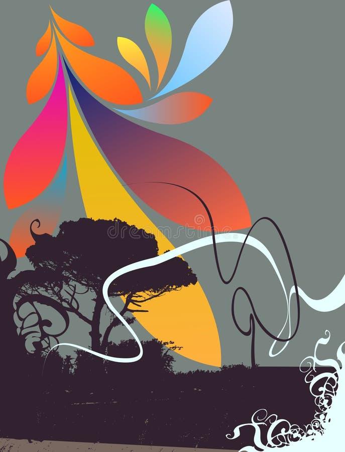 background colorful floral иллюстрация вектора