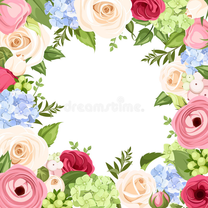 Background with colorful flowers. Vector illustration. vector illustration