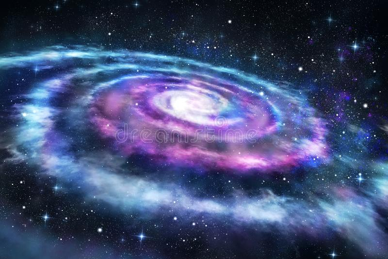 Background of colorful galaxy in the universe. Space stock illustration