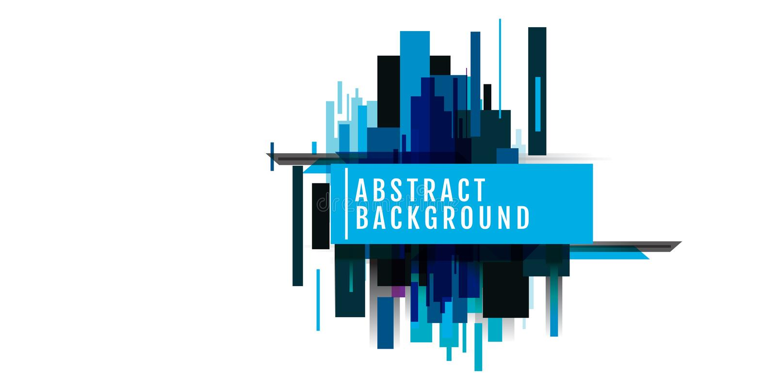 background Colorful panorama city vector banner set vector design colorful geometric futuristic tech abstract Colorful with space royalty free illustration