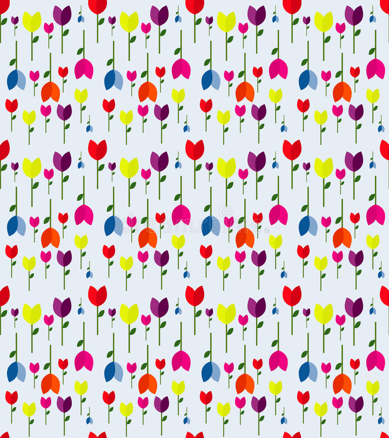 A background colorful spring tulips vector design. stock photography