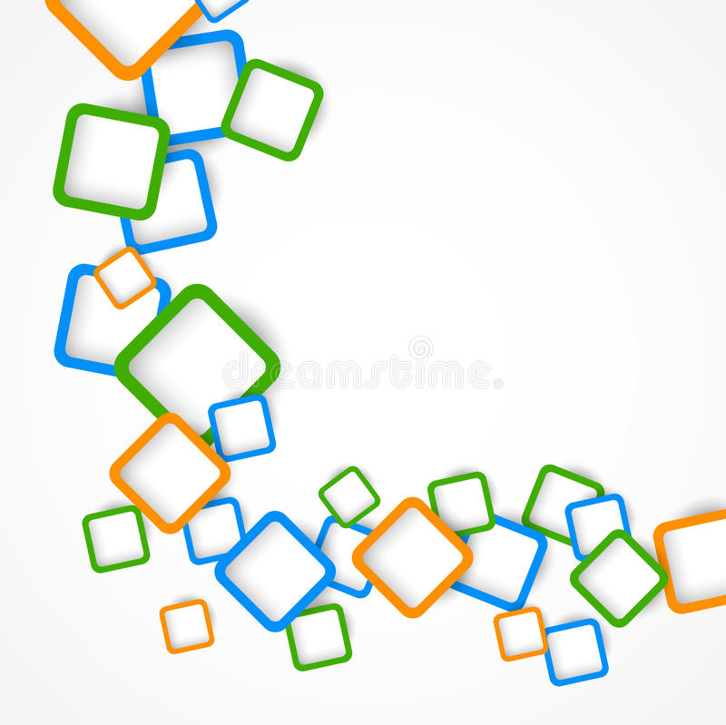 Download Background With Colorful Squares Stock Vector - Image: 27030140