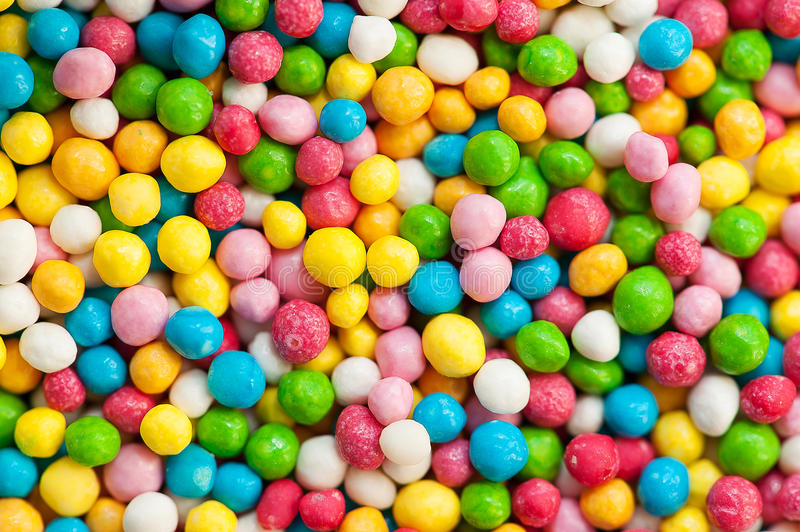 Background of colorful sugar balls stock photo