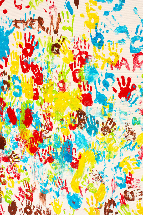 Download Background Colors. Painted Hands Stock Illustration - Image: 14776933