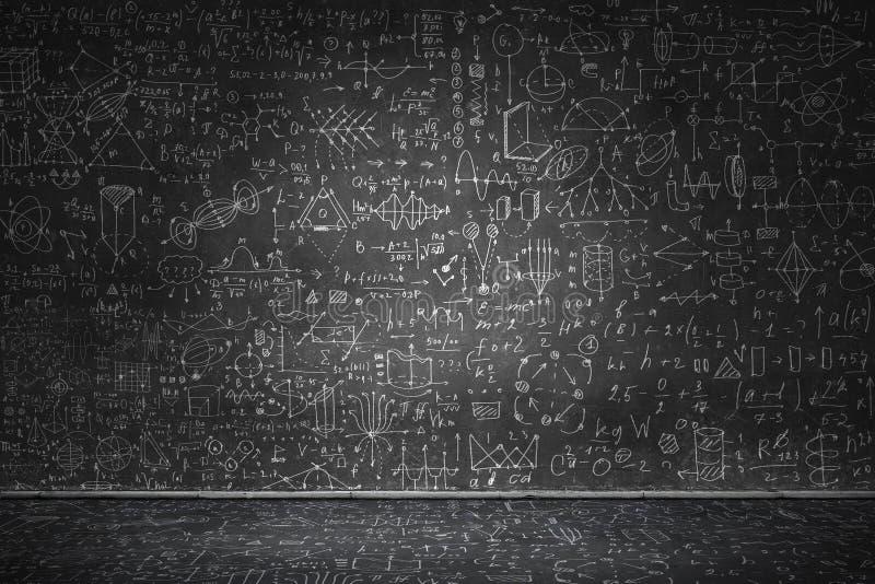 Chalkboard with formulas vector illustration