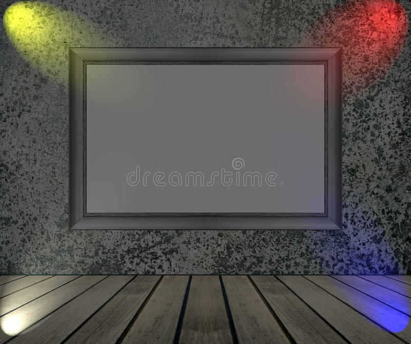 Background of concrete wall texture. Background of concrete wall with picture frame texture stock photography