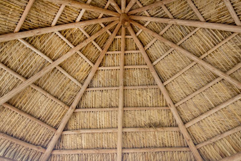 Tiki Thatch Background royalty free stock images