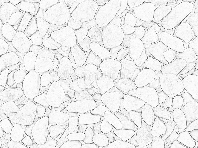 Background contour stones. Abstract white background - contours of granite stones royalty free illustration