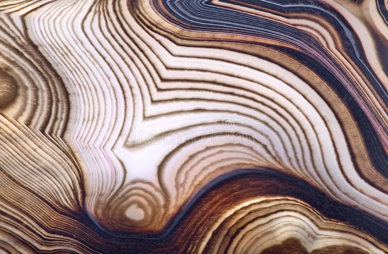 Contrast brown agate structure. Background with contrast agate structure stock photography