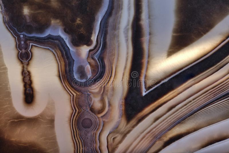 Texture with dark blue agate. Background with contrast agate structure stock photo