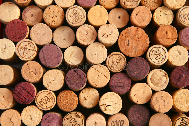 Background Of Corks Royalty Free Stock Photos