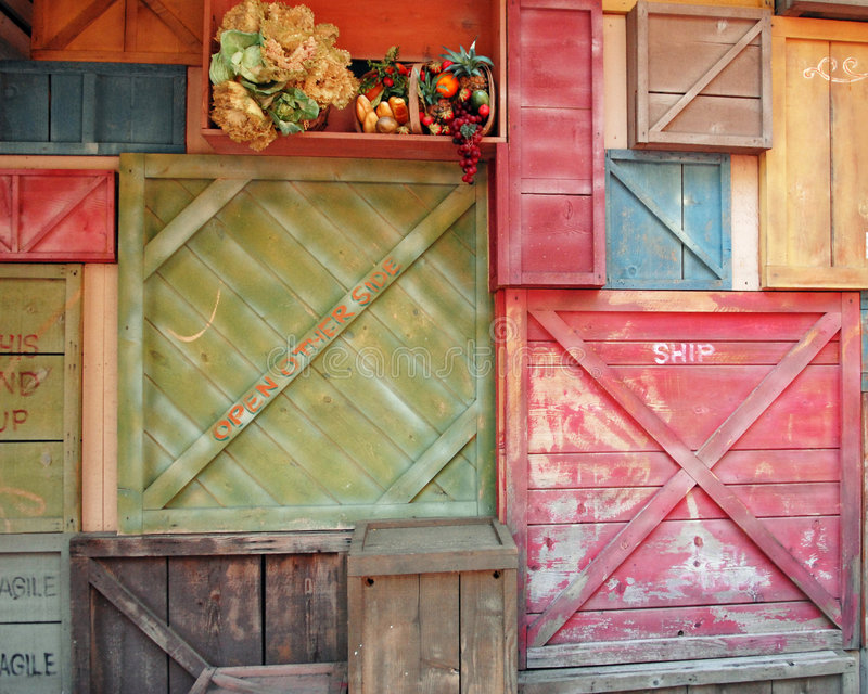 Background Crates. A background arrangement of colorful shipping crates stock images