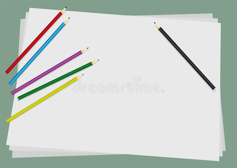 Download Background with crayons stock vector. Image of object - 13000753