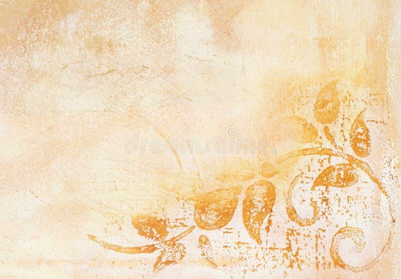 Download Background in creme color stock illustration. Image of brush - 5951320