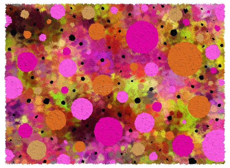 Background Crinkled Spots two vector illustration