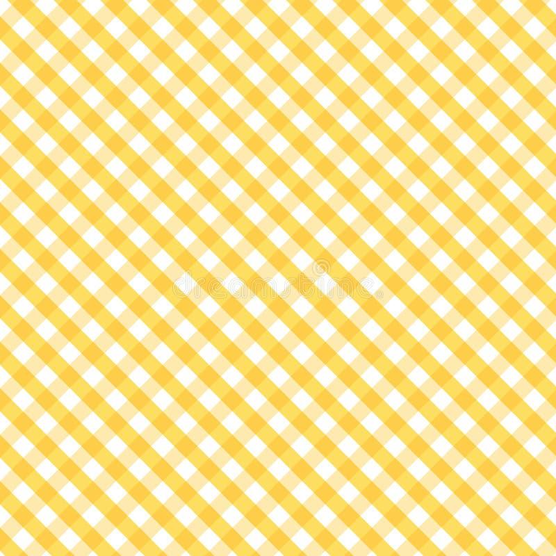 background cross gingham gold seamless weave иллюстрация вектора