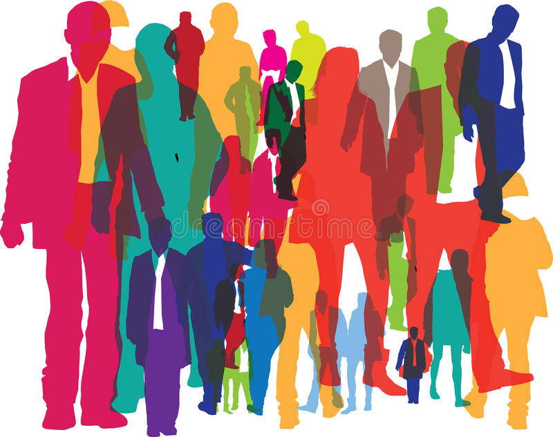 Download Background Of Crowds Of People Stock Vector - Image: 19028419
