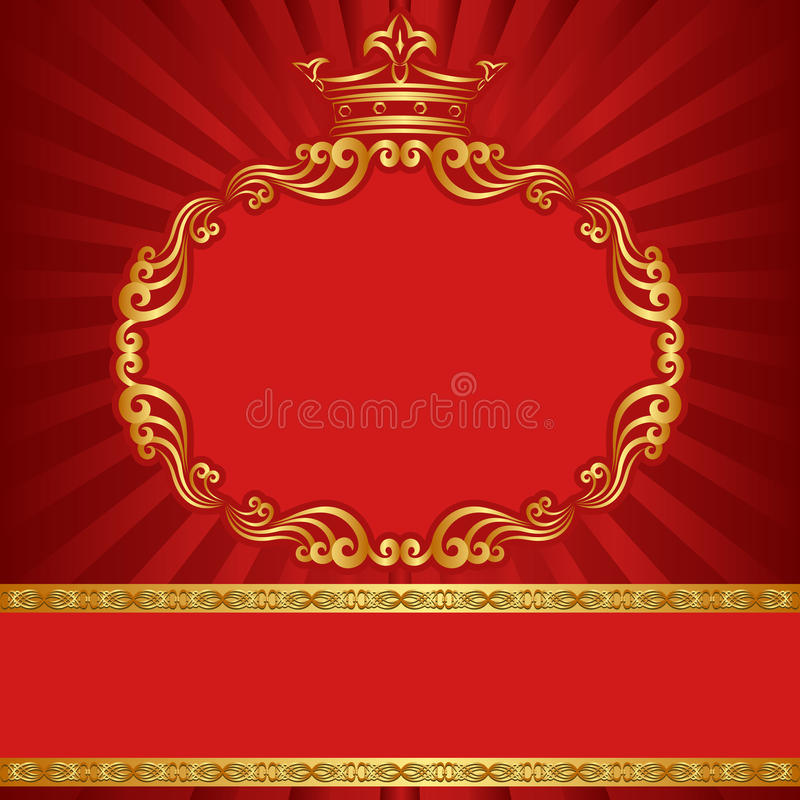 Background with crown