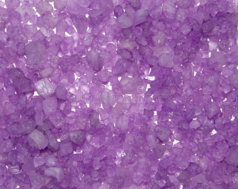 Background from crystals of color sea salt. royalty free stock photo