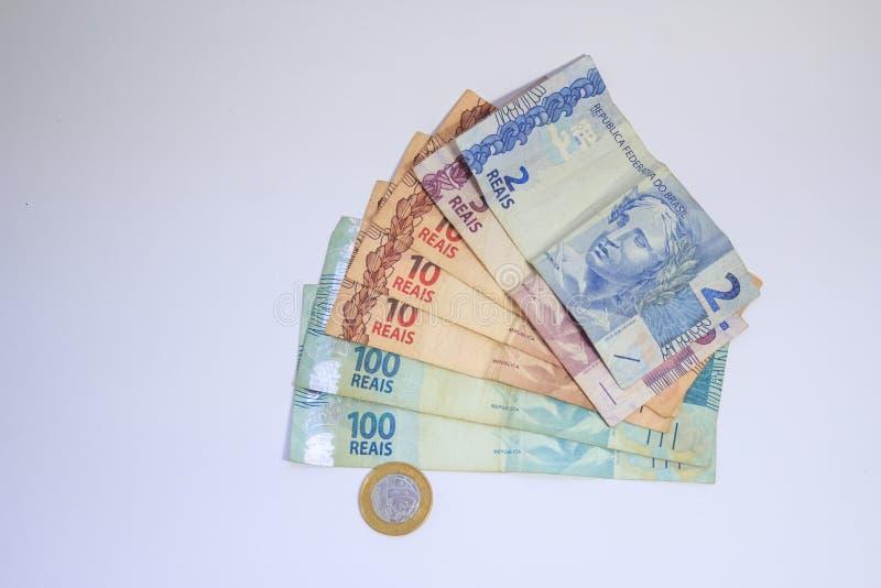 Money real kind Brazilian money royalty free stock photography