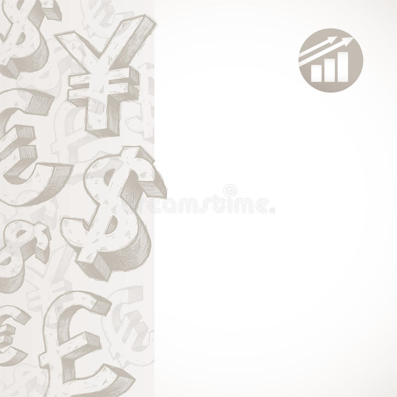 Background With Currency Signs Stock Photography