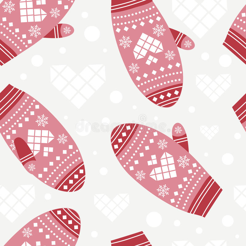 Download Background With Cute Mittens Stock Vector - Image: 37781293