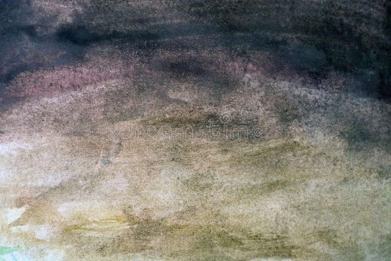 Background with dabs of gray watercolor. Abstract black watercolor background. Grunge watercolor texture stock image