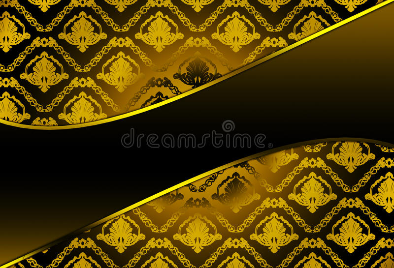 Download Background With Damask Pattern Stock Illustration - Illustration: 14544648