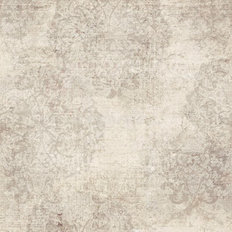 Background with damask pattern. A white and beige antique grunge damask pattern royalty free stock images