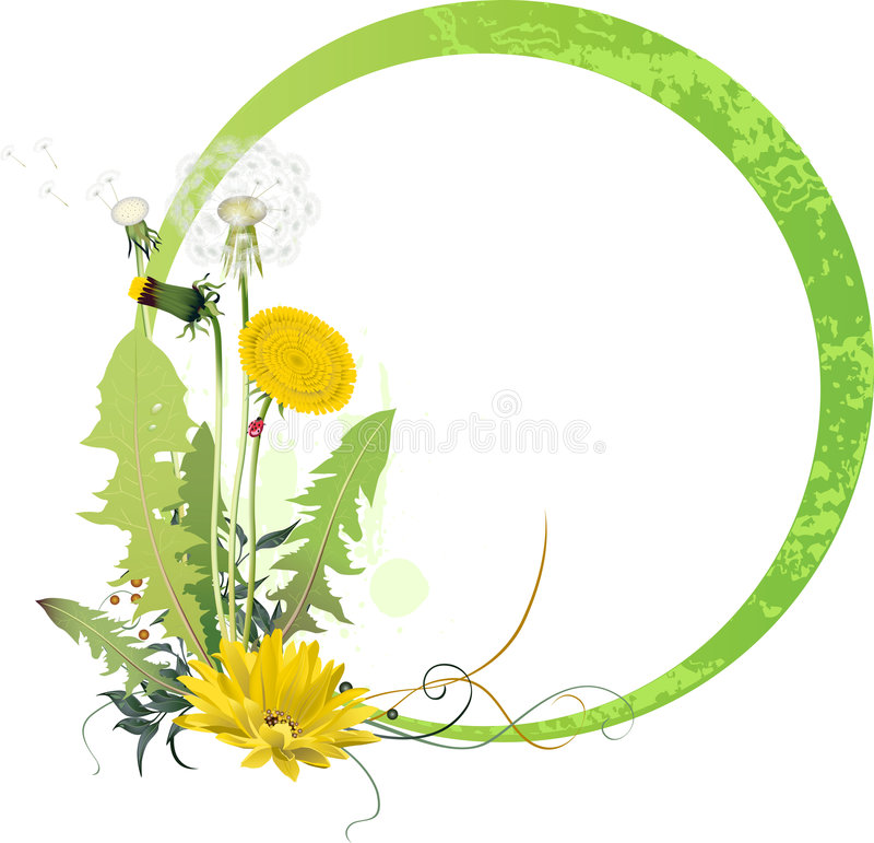 Download Background with Dandelion stock vector. Image of season - 8706286