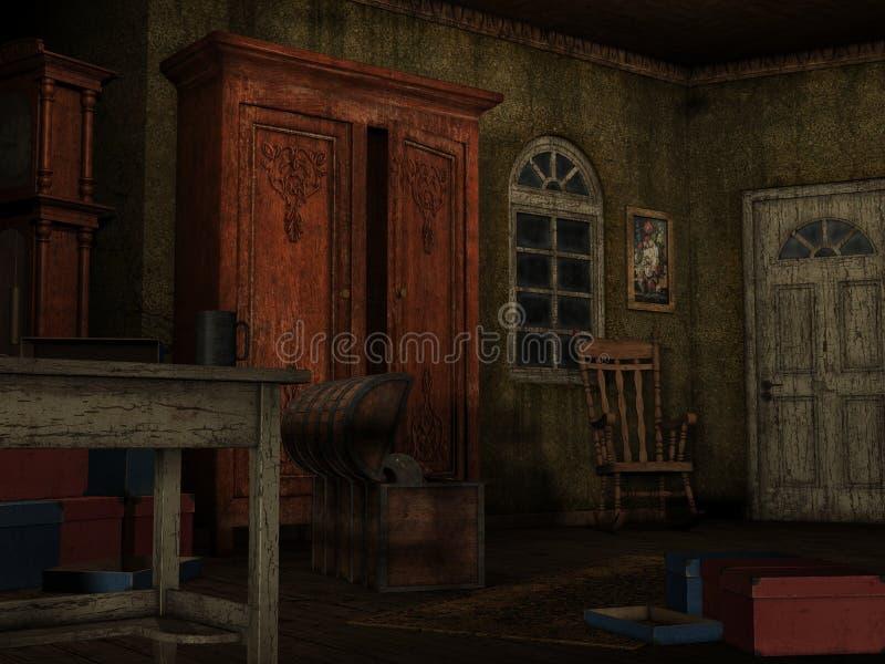 Background-Dark room royalty free illustration