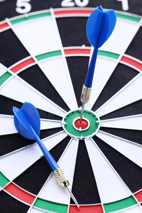 Dartboard with darts. Background of dartboard with darts stock images