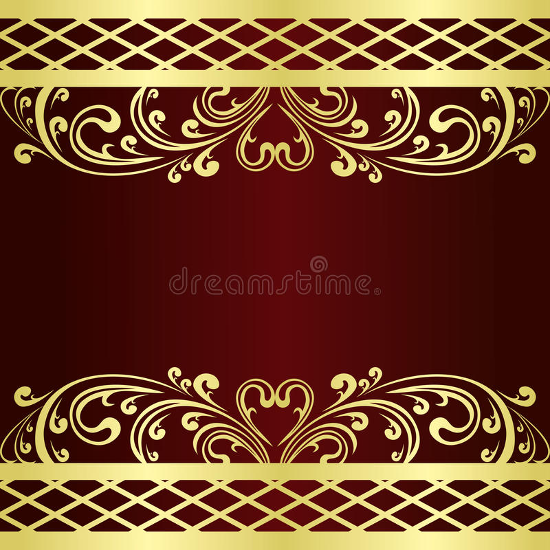 Download Background Decorated A Gold Vintage Border. Stock Vector - Image: 28842635