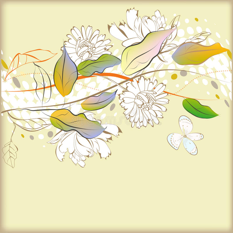 Download Background With Decorative Border Stock Vector - Image: 17404439